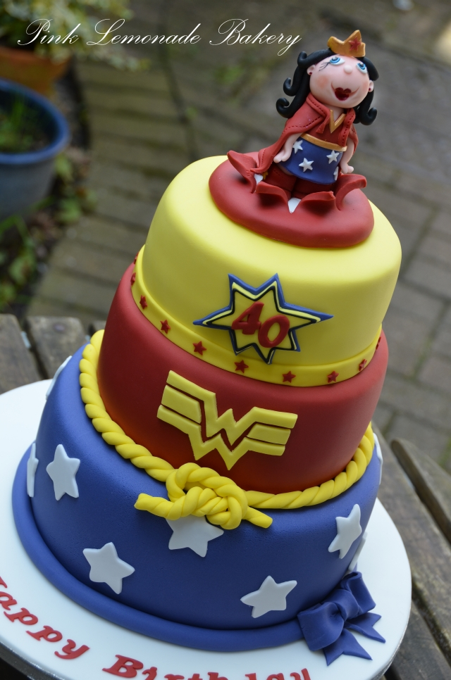 Lemon Wonder Woman Cake