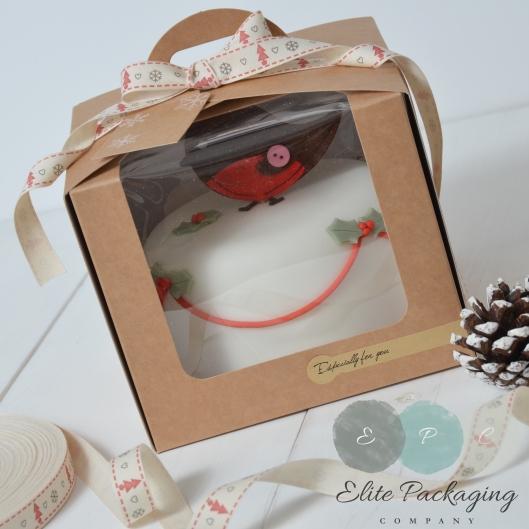 Close up cake box