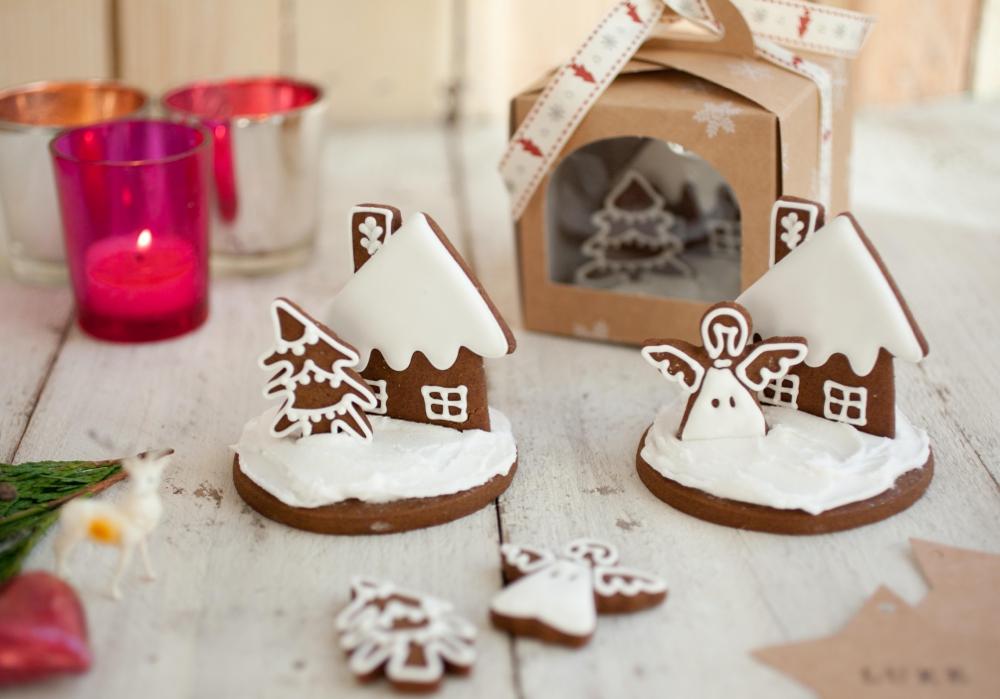 3d Christmas Cookie Scene Pink Lemonade Bakery